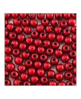 Perle magique 6mm rouge x100