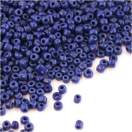 Perles de rocailles 2mm bleu jean opaque
