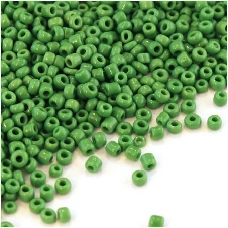 Perles de rocailles 2mm vert foncé opaque