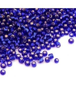 Perles de rocailles 2mm bleu foncé