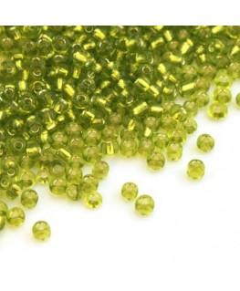Perles de rocailles 2mm vert clair
