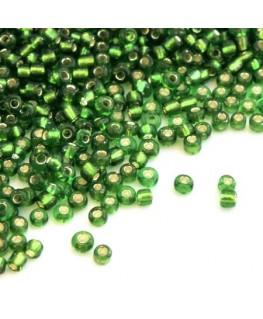 Perles de rocailles 2mm vert foncé