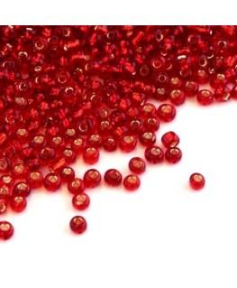 Perles de rocailles 2mm rouge siam
