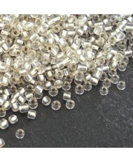 Perles de rocailles 2mm cristal