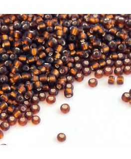 Perles de rocailles 2mm topaze fumé
