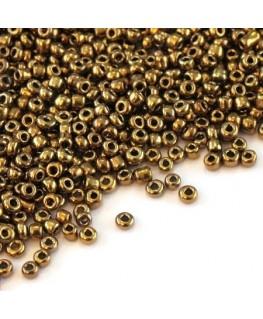 Perles de rocailles 2mm bronze métallisé