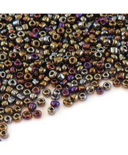 Perles de rocailles 2mm assortiment métallisé