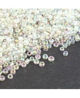 Perles de rocailles 2mm cristal irisé
