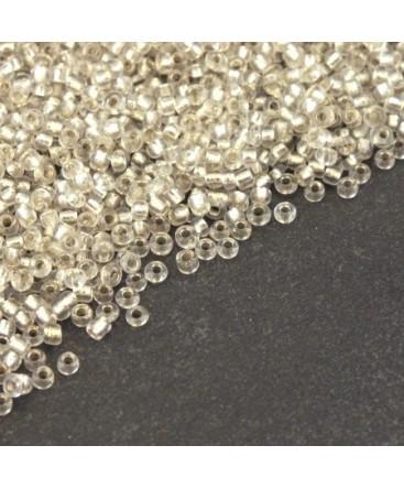 Perles mini rocailles cristal 1,5mm