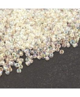 Perles mini rocailles cristal irisé AB  1,5mm