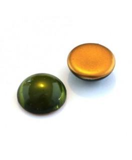 Cabochons verre de bohème 18mm olivine