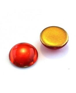 Cabochons verre de bohème 18mm orange