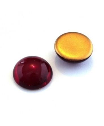 Cabochons verre de bohème 18mm rubis