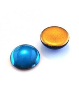 Cabochons verre de bohème 18mm turquoise