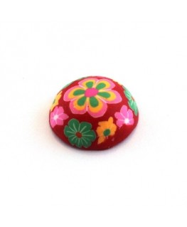 Cabochon fimo 20mm rouge