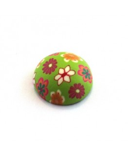 Cabochon fimo 20mm vert