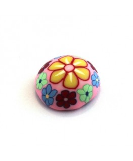 Cabochon fimo 20mm rose