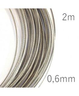 Fil câblé pour bijoux 0.6mm gris