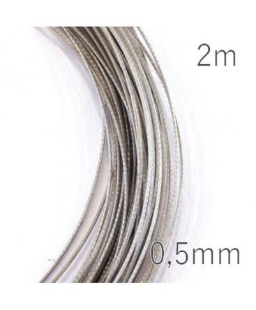 Fil câblé pour bijoux 0,5mm gris