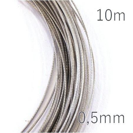 Fil câblé pour bijoux 0.5mm gris