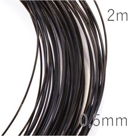 Fil câblé pour bijoux 0,5mm noir