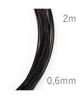 Fil câblé pour bijoux 0,6mm noir