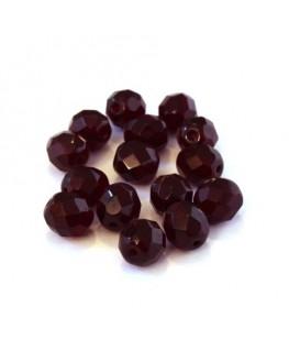 Perles à facettes 8mm rubis x15