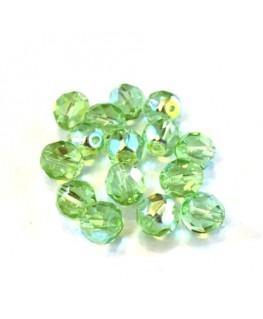 Perles à facettes 8mm vert péridot AB x15
