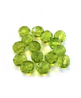 Perles à facettes 8mm vert pomme x15