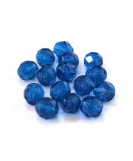Perles à facettes 8mm bleu capri x15