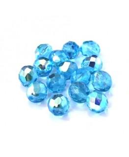 Perles à facettes 8mm turquoise foncé AB x15