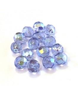 Perles à facettes 8mm bleuet AB x15