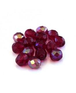 Perles à facettes 8mm fuchsia AB x15