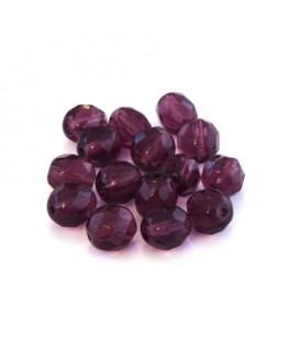 Perles à facettes 8mm améthyste x15