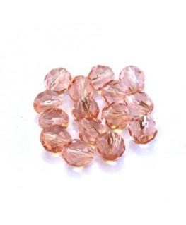 Perles à facettes 8mm rose pêche x15