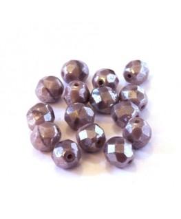 Perles à facettes 8mm lilas opaque lustré x15