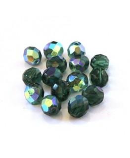 Perles à facettes 8mm tourmaline AB x15