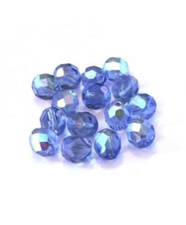 Perles à facettes 8mm bleu saphir AB x15