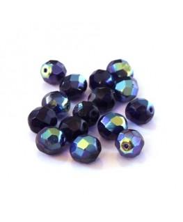 Perles à facettes 8mm violet AB x15