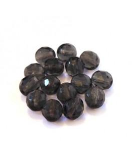 Perles à facettes 8mm gris foncé x15