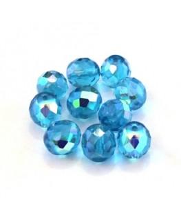 Perles à facettes 10mm turquoise AB