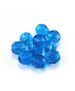 Perles à facettes 10mm turquoise foncé