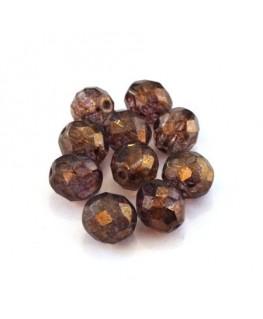 Perles à facettes 10mm cristal bronze