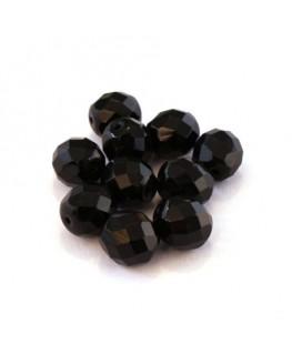 Perles à facettes 10mm noir