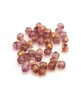 Perles à facettes 4mm blush lustré