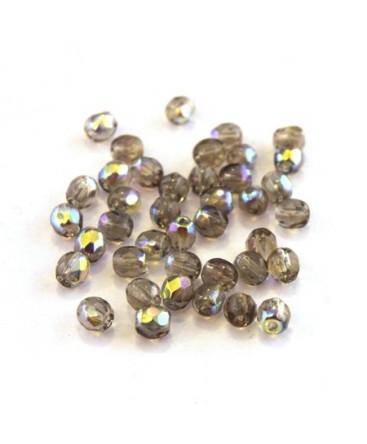 60 FACETTES Cristal de Bohême 4 MM BLACK DIAMOND