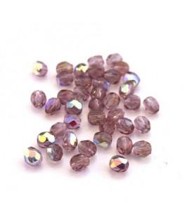 Perles à facettes 4mm vieux rose AB