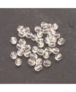 Perles à facettes 4mm cristal