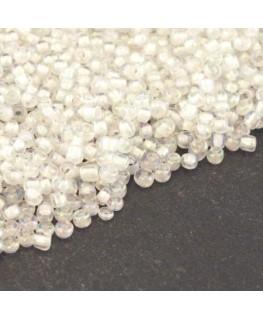 Perles de rocailles 2mm blanc color lined