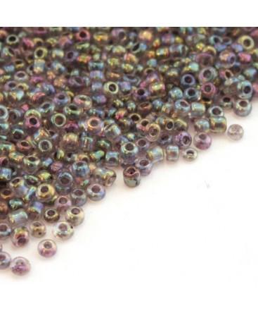 Perles de rocailles 2mm gris color lined
